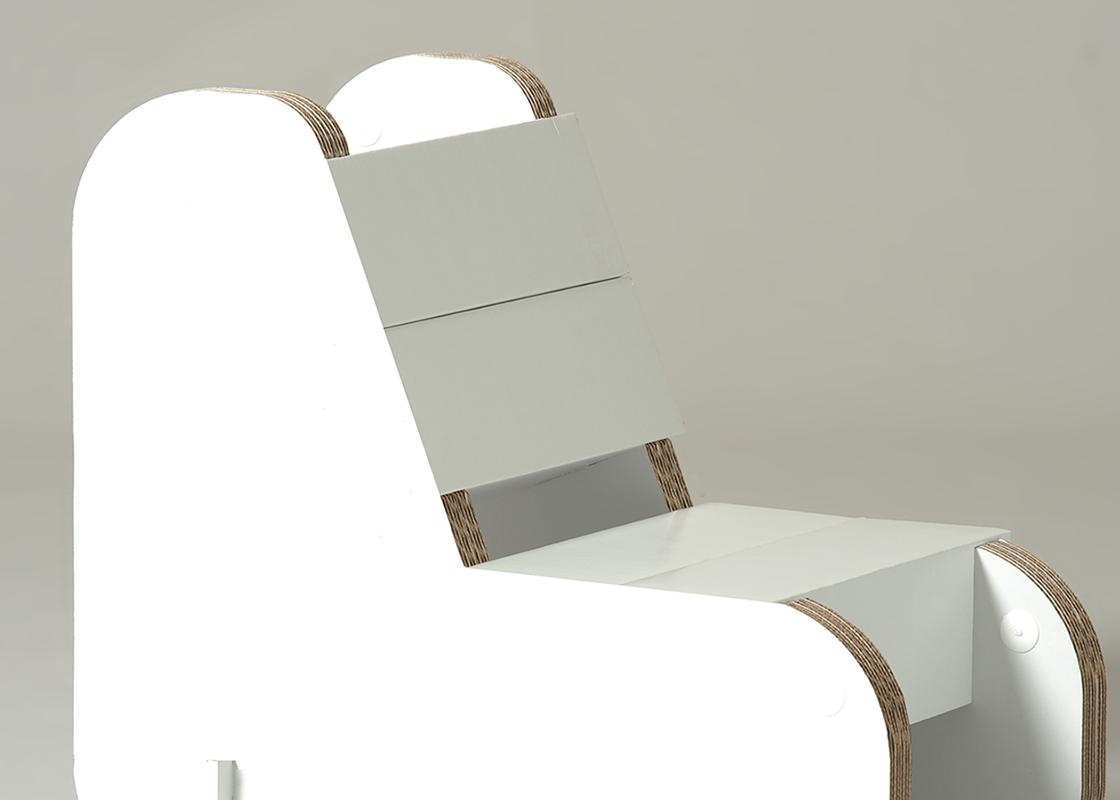 Cardboard Kids chair alice