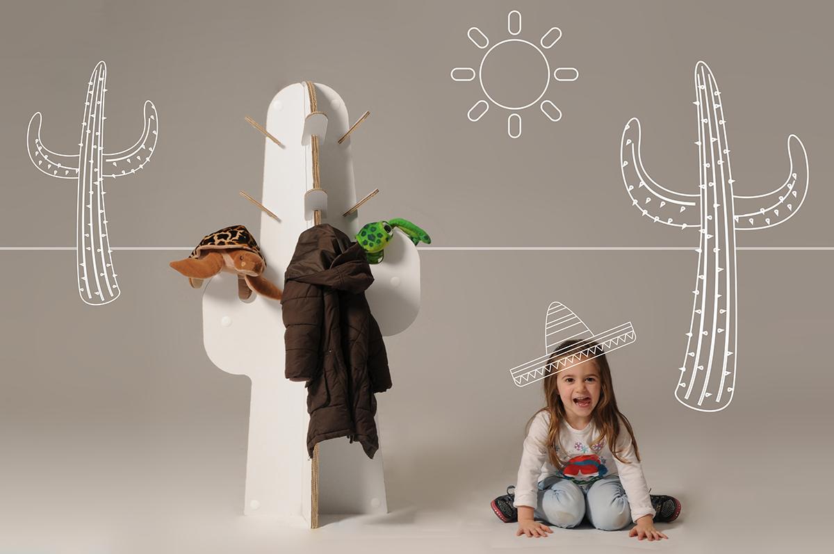 Cardboard Kids hanger cactus