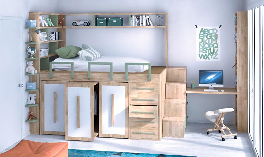 Platz sparend Schlafzimmer