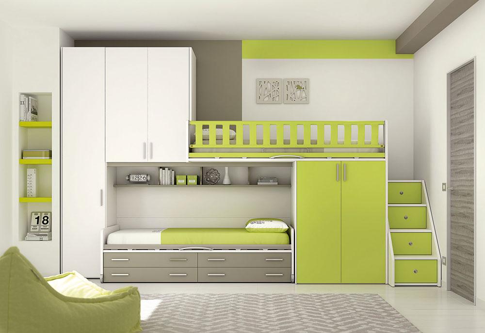 grüne Schlafzimmer