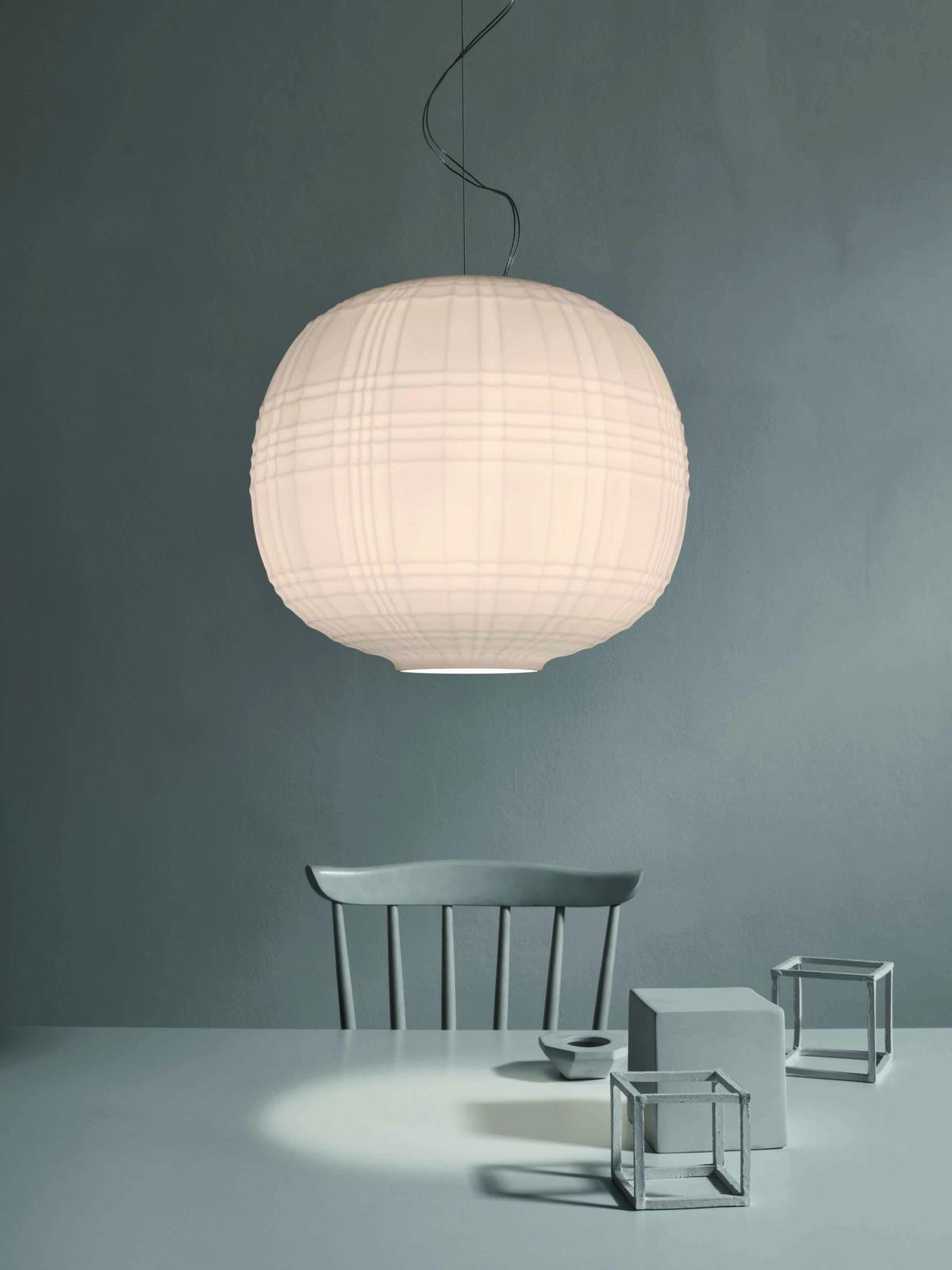 Tartan blown glass lamp set
