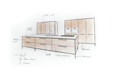 Cesar Μονάδα Κουζίνα, Γκαρσία Cumini σχεδιασμό - Προεπισκόπηση Fuorisalone 2016