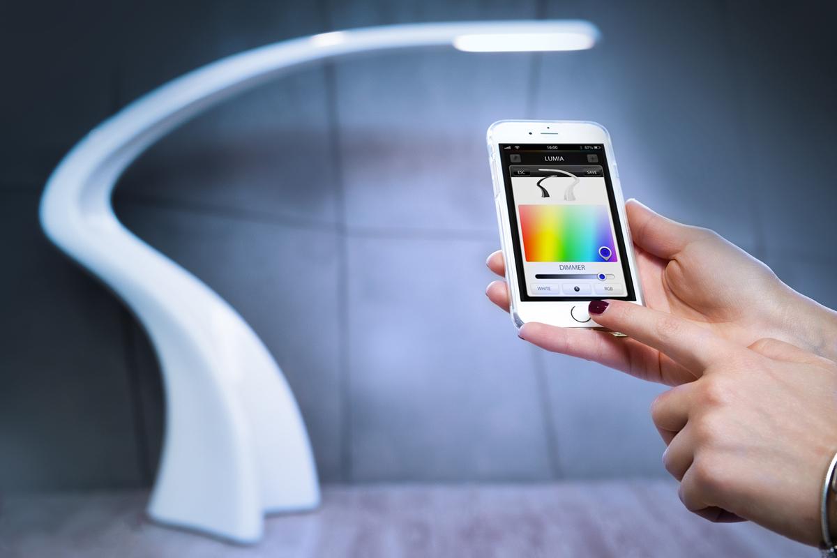 Lumia, floor lamp dimmable LED lighting
