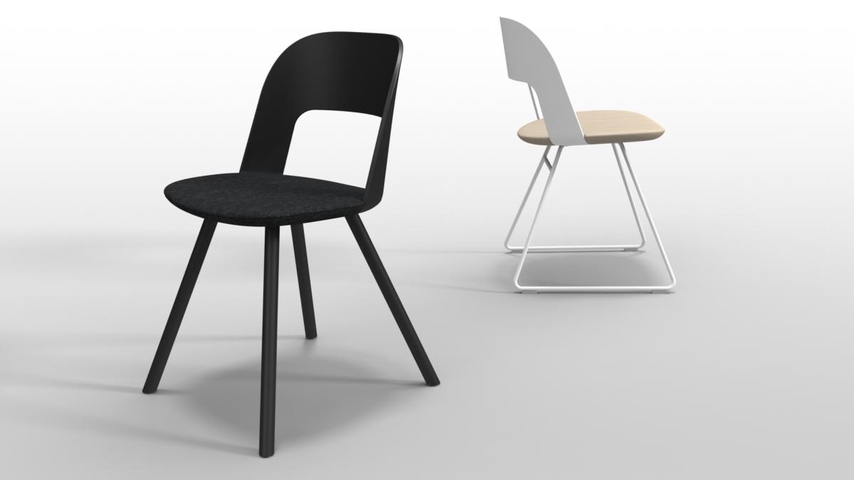 Lapalma Stuhl gebogenen Holzbogen