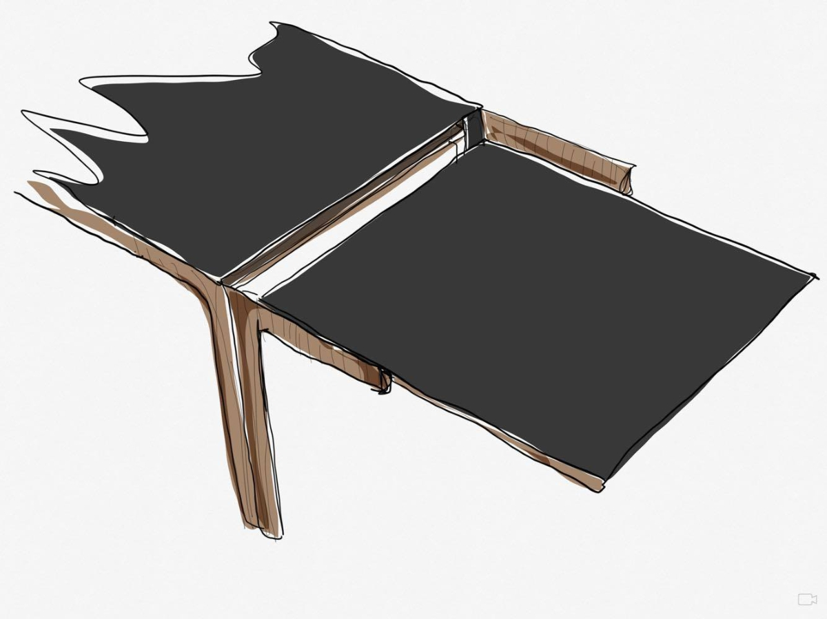 Table Amalong, Giulio Iacchetti pour Bross, extraction des extensions