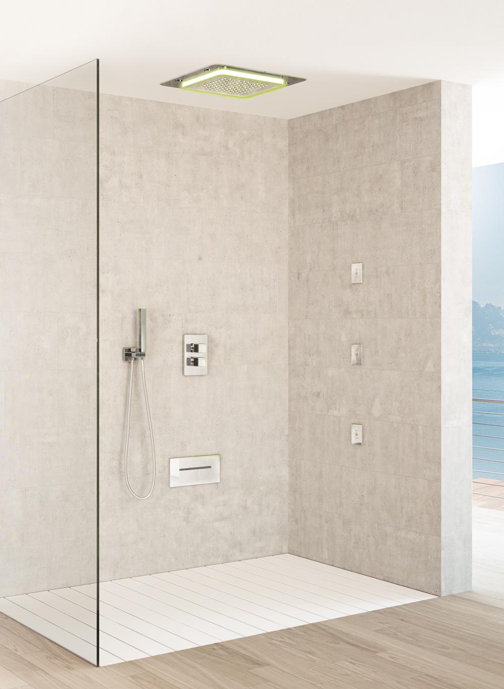 Douche multifonction douche Playone encastré au plafond, tête corps latéral douche à jet