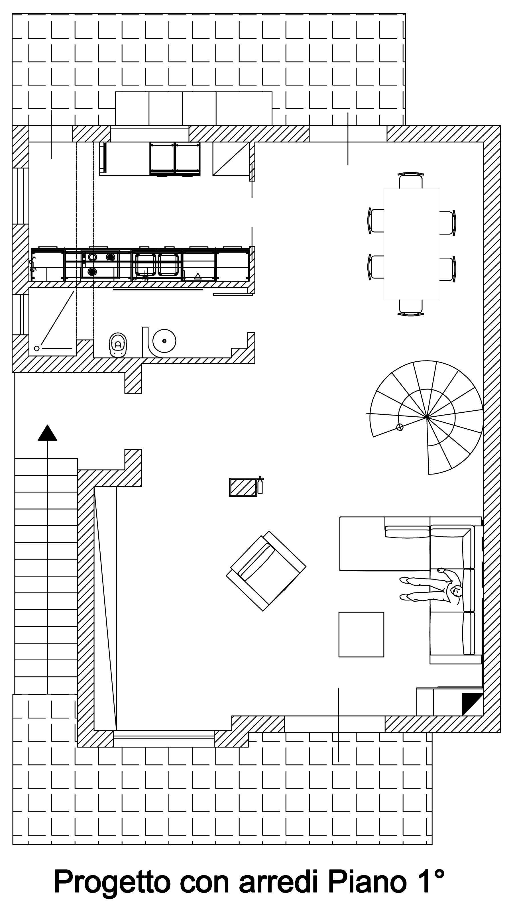 Bogen-arnone-Interieur-Design-of-unabitazione-of-2-Ebenen-Boden-first