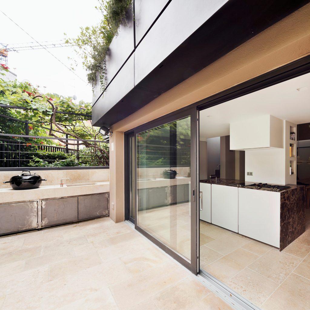 Westway Achitects vertikale Dachboden, Küche und im Freien
