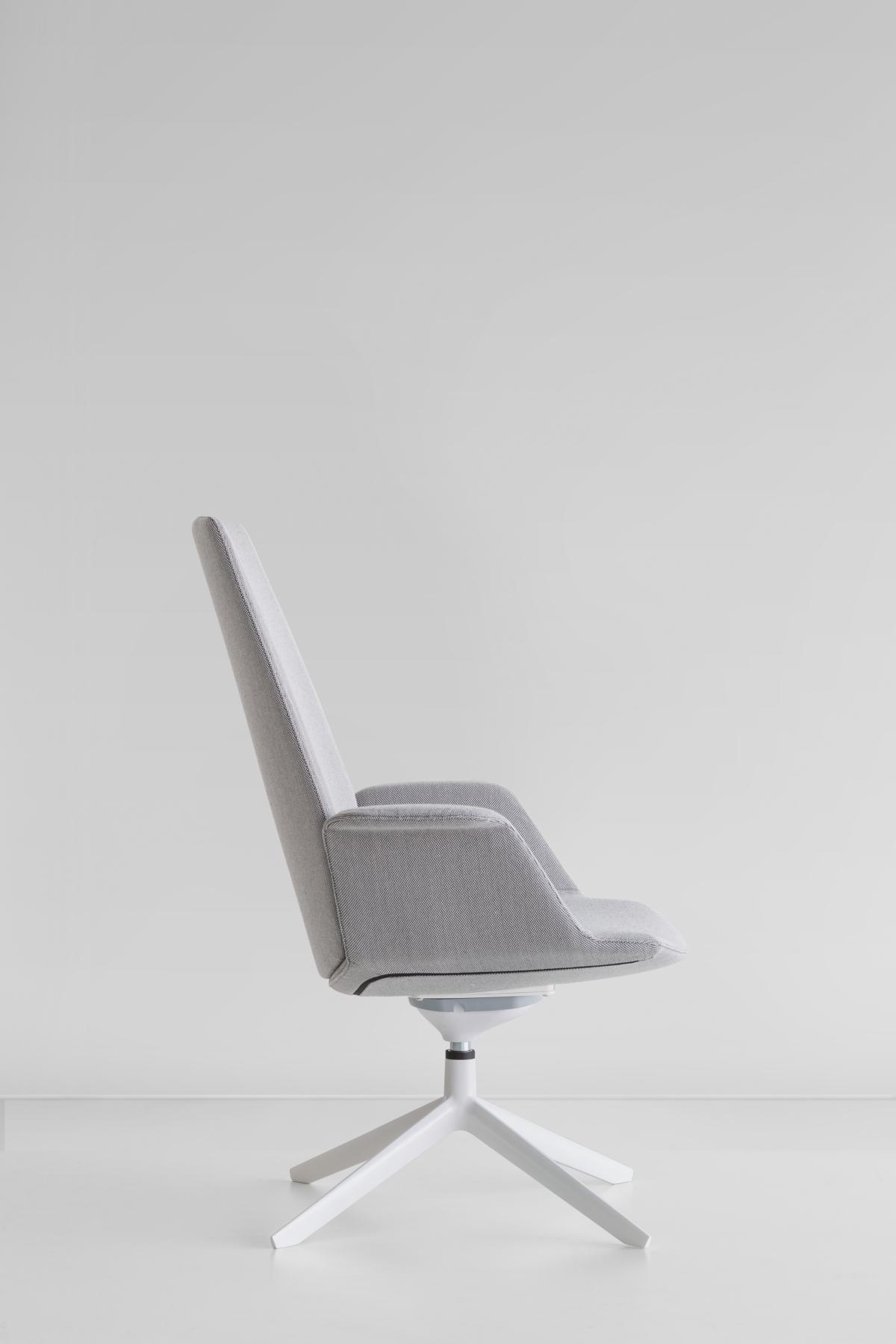 Μια σπονδυλωτή καθίσματα, Francesco Rota για lapalma, πλάγια όψη