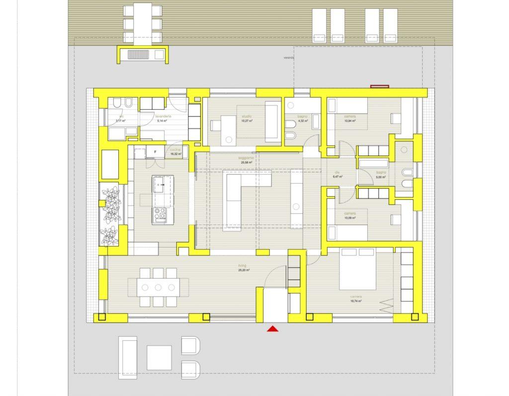Villa PNK une maison durable studio m12 AD, plan d'étage