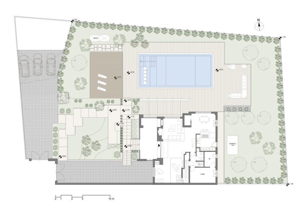 casa in campagna riqualificazione esterno e ampliamento, planimetria