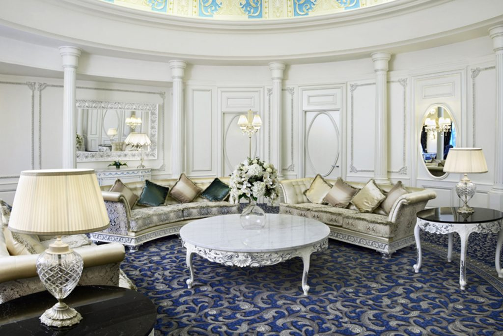 The living area of Presidential Suite - Patrizia Volpato's Lights