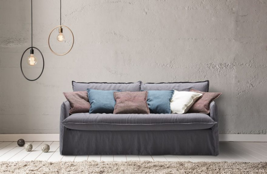 Shabby chic sofa bed Clarke Milano Bedding at the Mobile Show 2017 ...