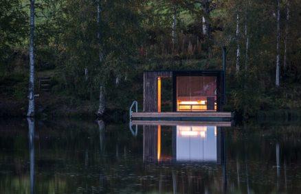 πλωτή σάουνα μικρού εργαστηρίου αρχιτεκτονικής