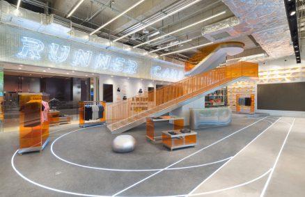 Prisma Design Läufer Lager Flaggschiff Konzept speichern