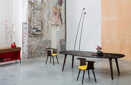 Ademar table top in Portoro marble