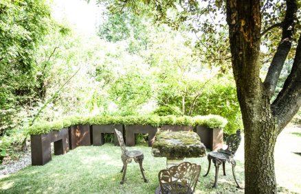 Thebes planters The corten garden