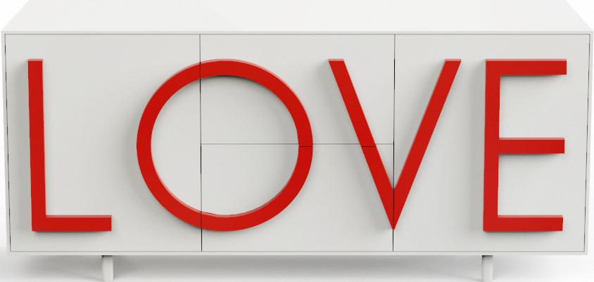 LOVE σχεδιασμός μπουφέ Fabio Novembre για Driade