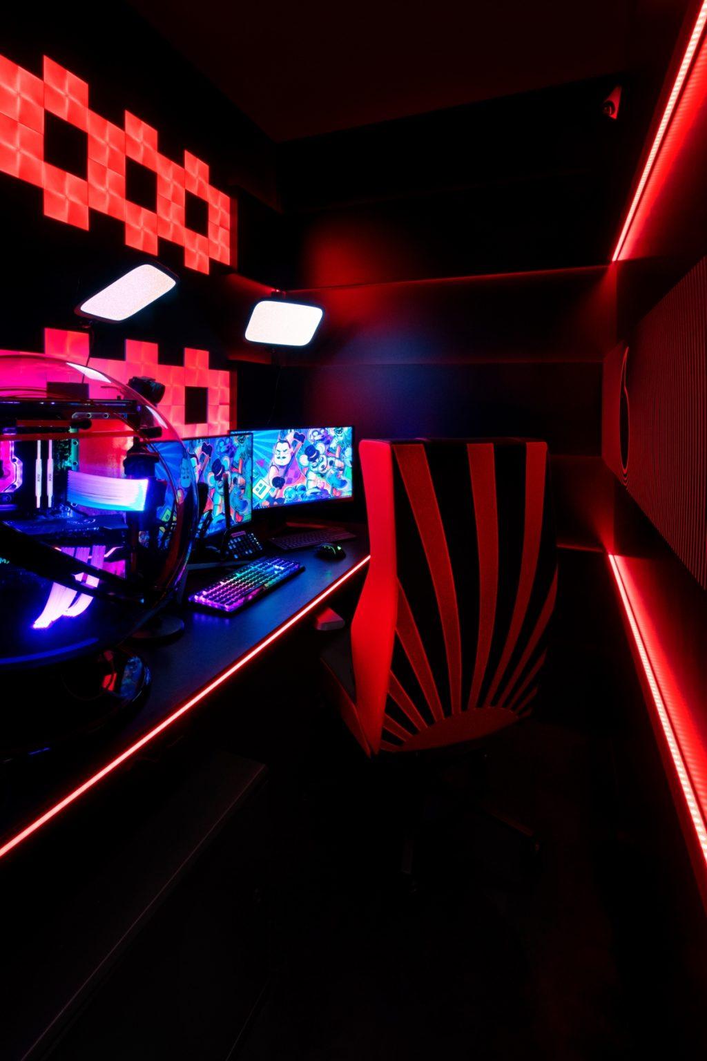Gaming room Favij project Fabio Novembre